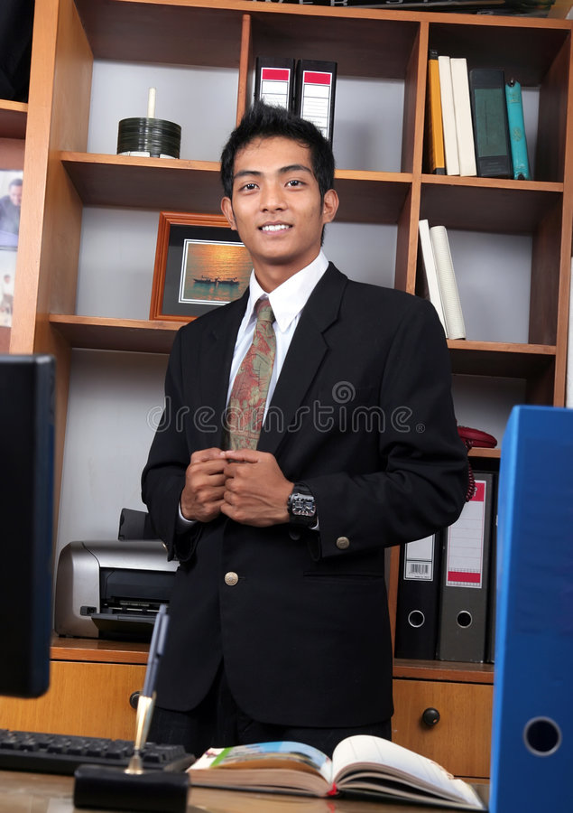 Young business executive royalty free stock image