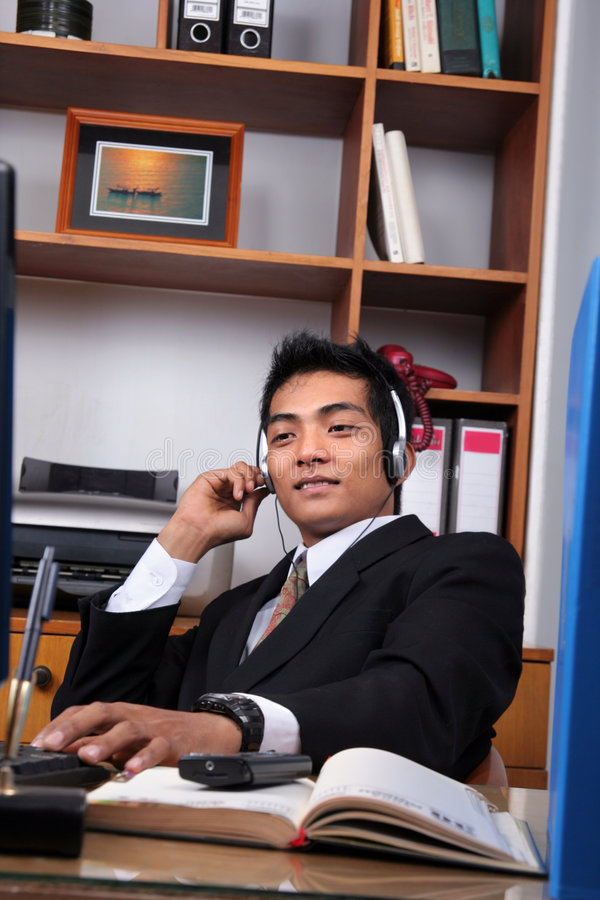Young business executive royalty free stock photo