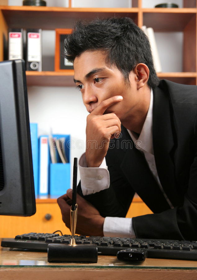 Young business executive stock image
