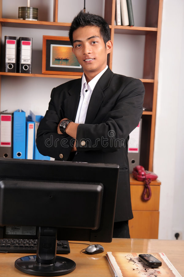 Young business executive royalty free stock photography