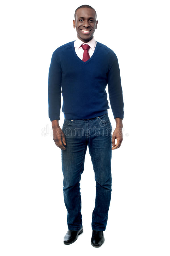 Young business executive in casual attire stock photography