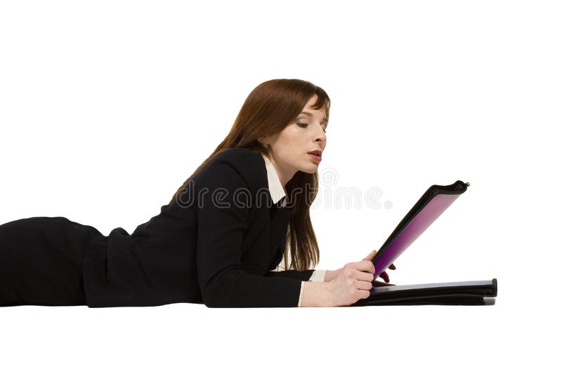 Young business girl royalty free stock photography