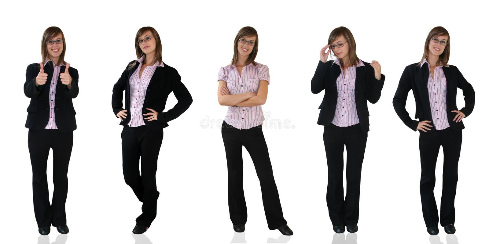 Young business girls stock photos