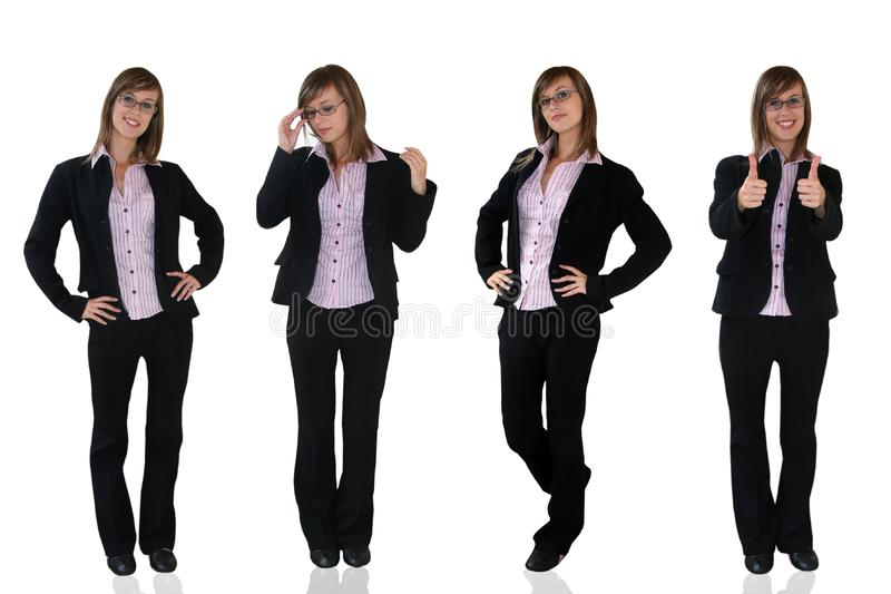 Young business girls royalty free stock photography