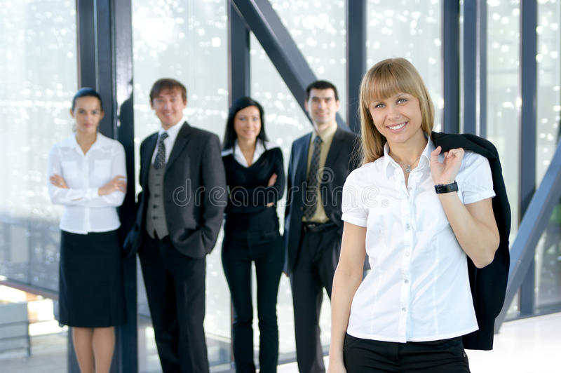 Download A Young Business Group Is Working In An Office Stock Photo - Image: 15454706