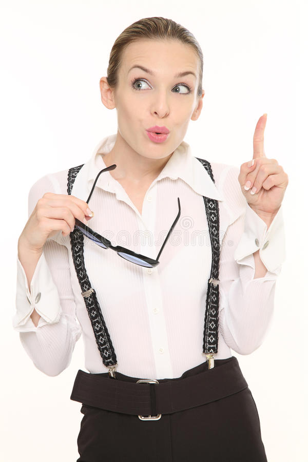 Young business lady stock photo