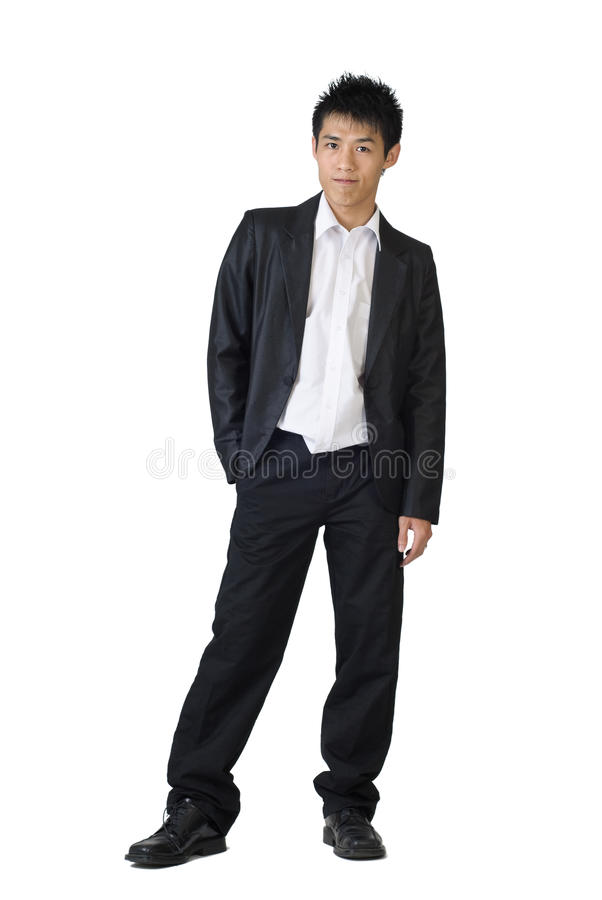 Young business man royalty free stock image