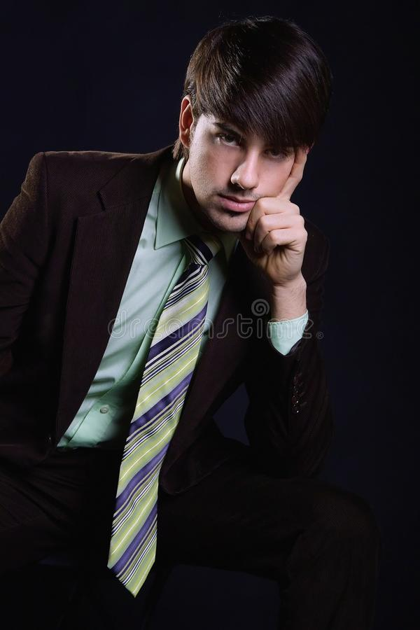 Young business man royalty free stock photo