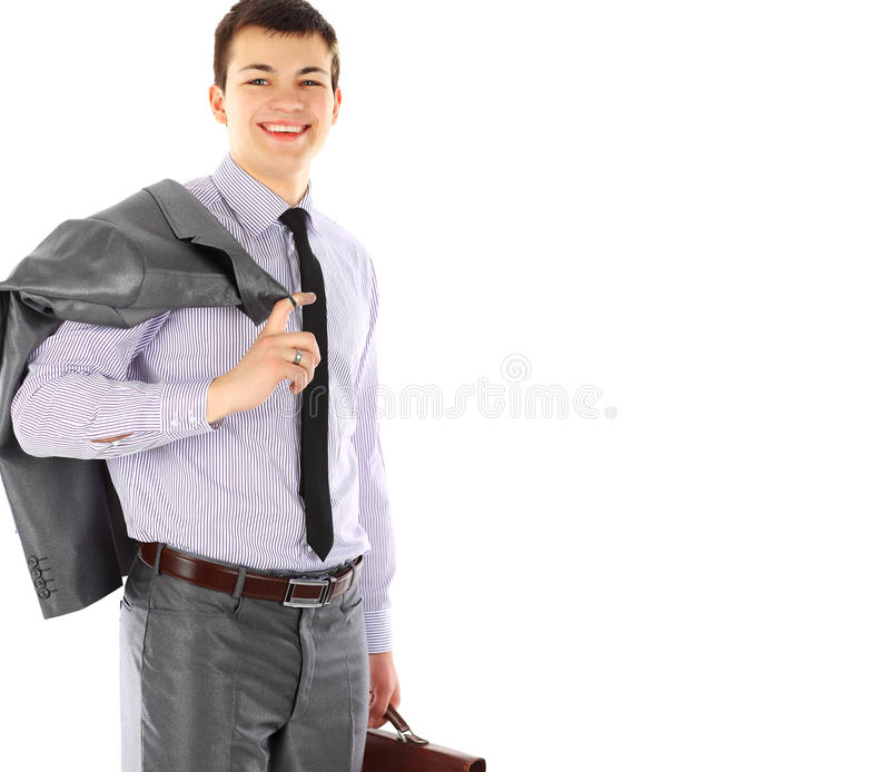 Young Business Man With Briefcase Portrait Royalty Free Stock Photo