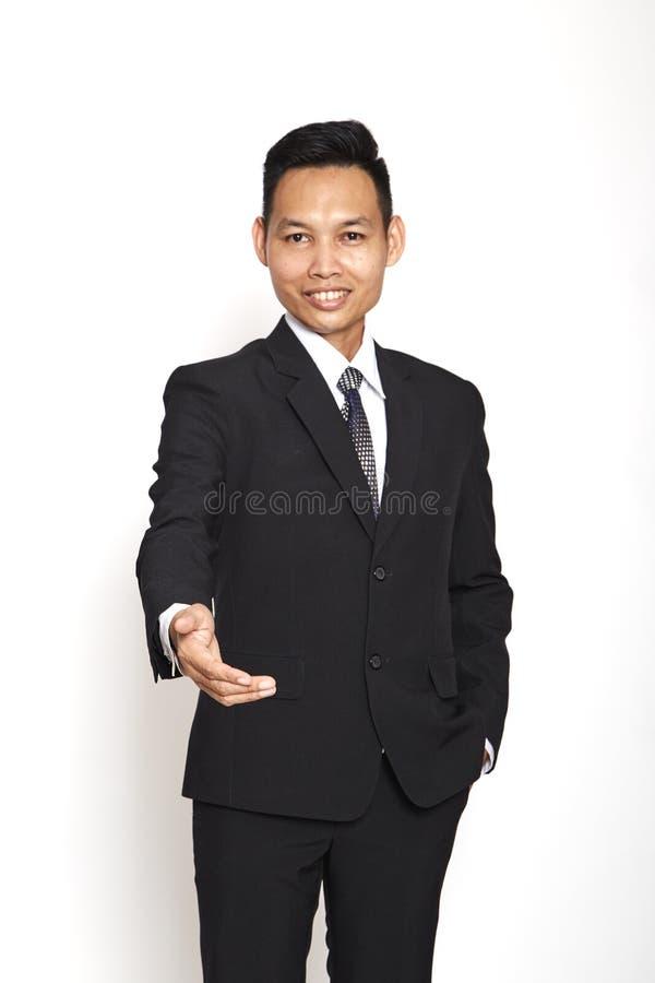 young business man handshake royalty free stock photos