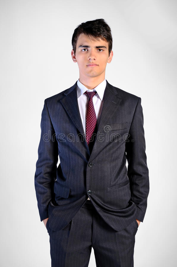 Young business man. Leadership attitude stock photography