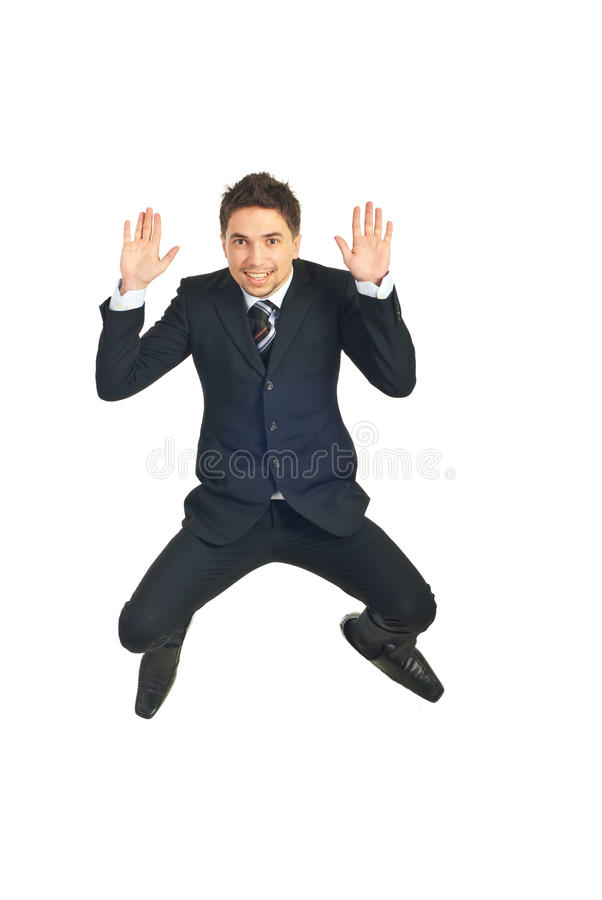 Download Young business man leaping stock image. Image of caucasian - 17820607