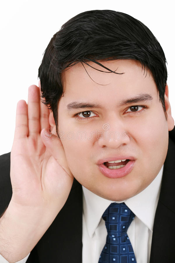 Download Young Business Man Listening Stock Photo - Image: 23308146