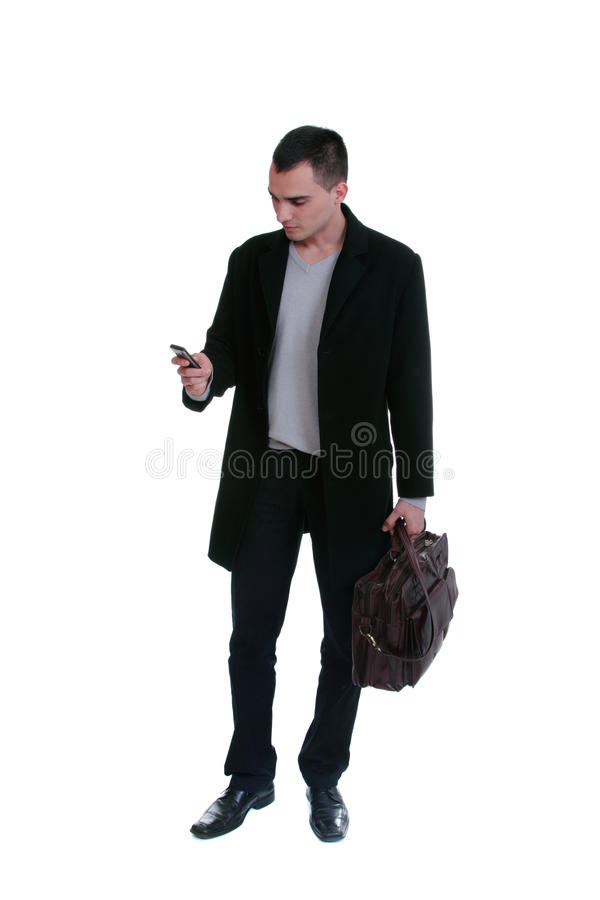 Download Young Business Man Over The Cellphone Stock Photo - Image: 16491264