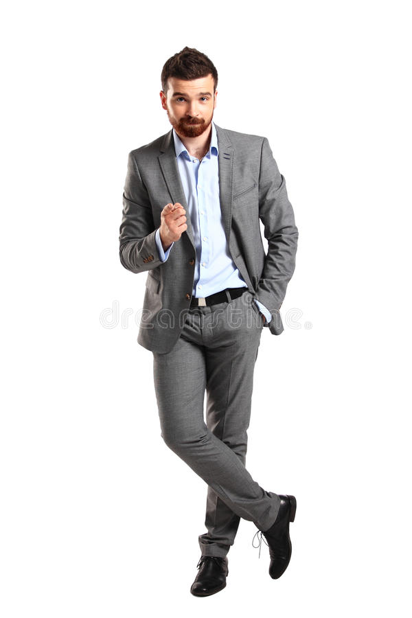 Young business man pointing to the camera stock images