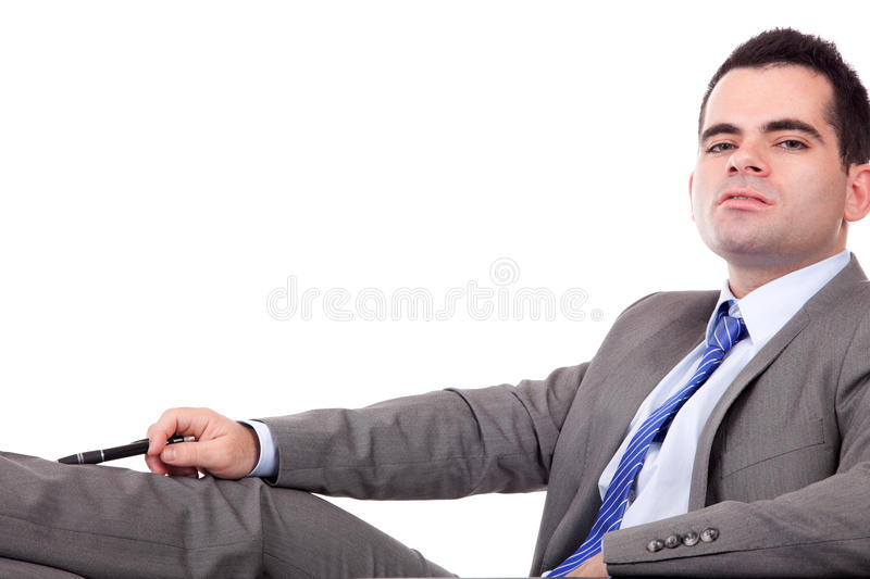 Young Business Man Posing Stock Photography