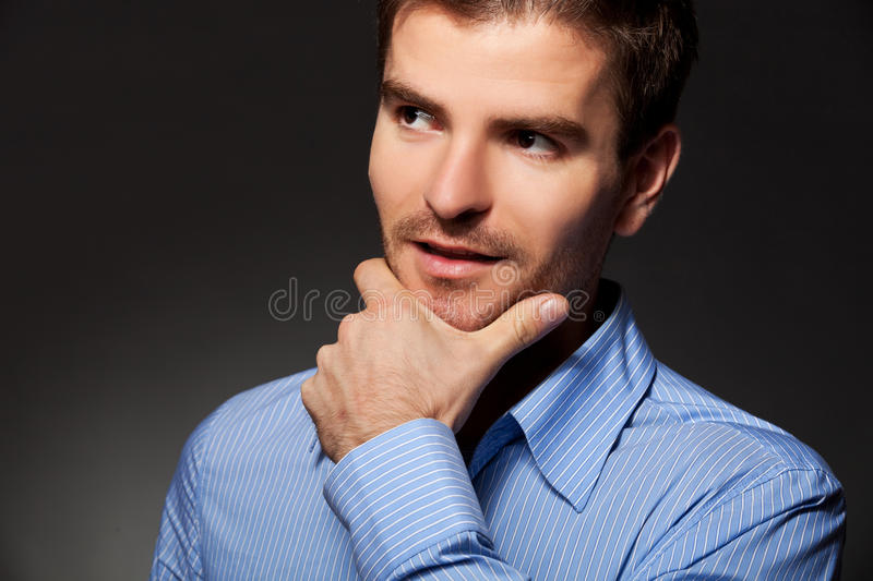 Download Young Business Man Thinking Stock Image - Image: 22957507