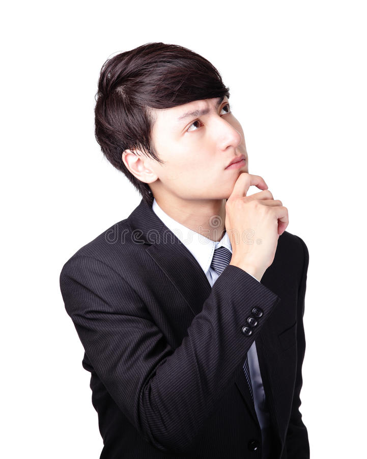 Download Young Business Man Thinking Stock Image - Image: 34381117