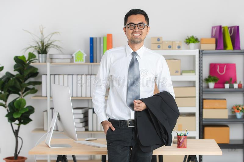 Young business man at work stock photography