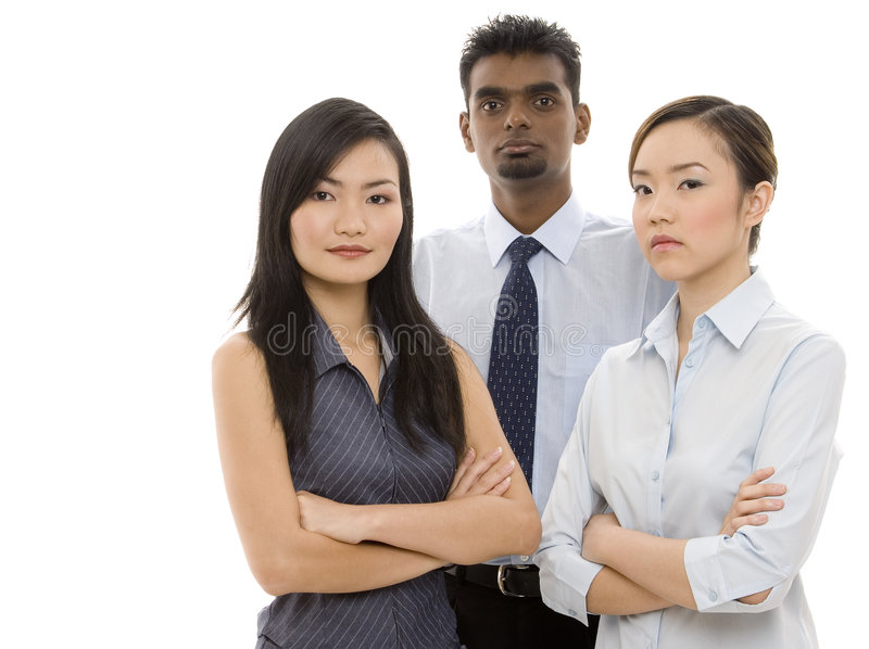 Young Business People 3. A diverse group of confident business people stock image