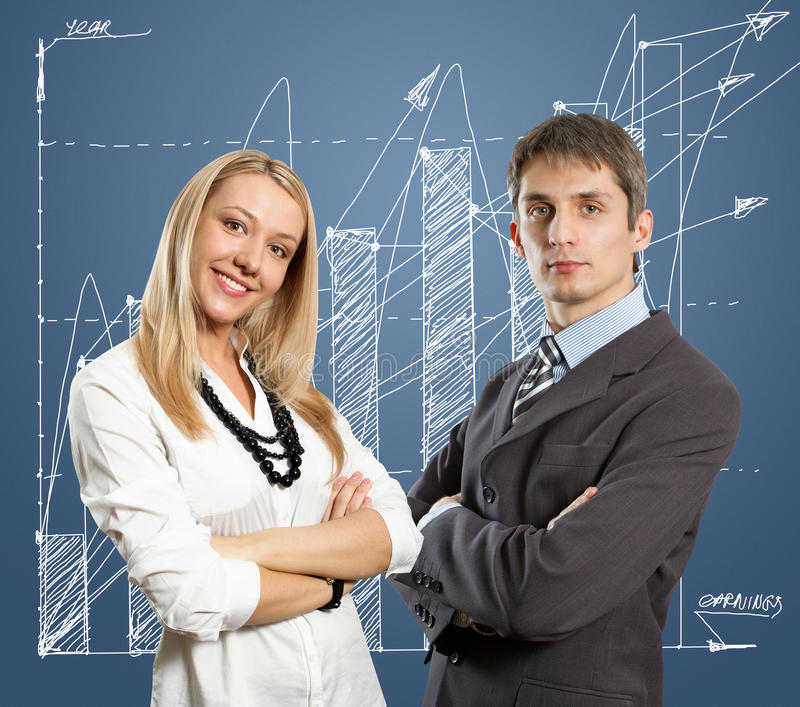 Young Business People With Crossed Hands Stock Photos