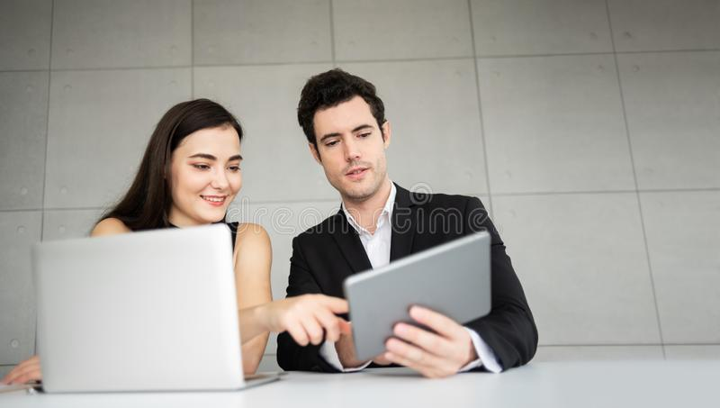 Young Business People are discussing. royalty free stock photography