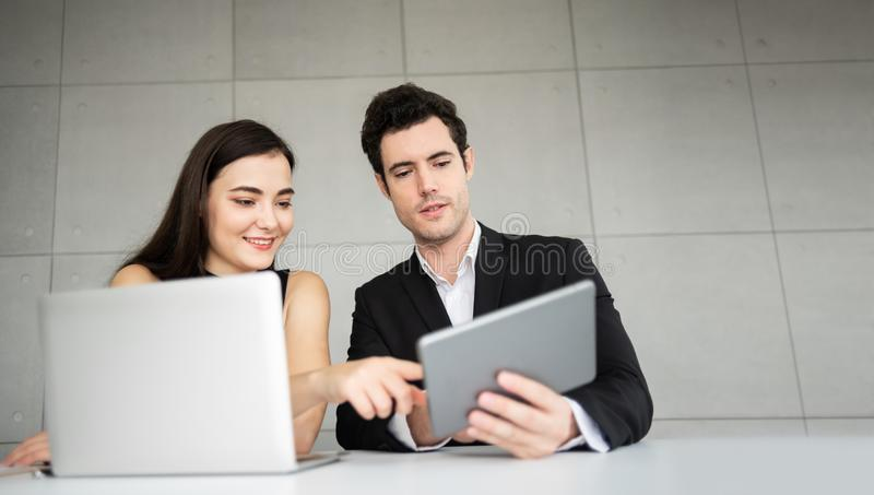 Young Business People are discussing. stock image