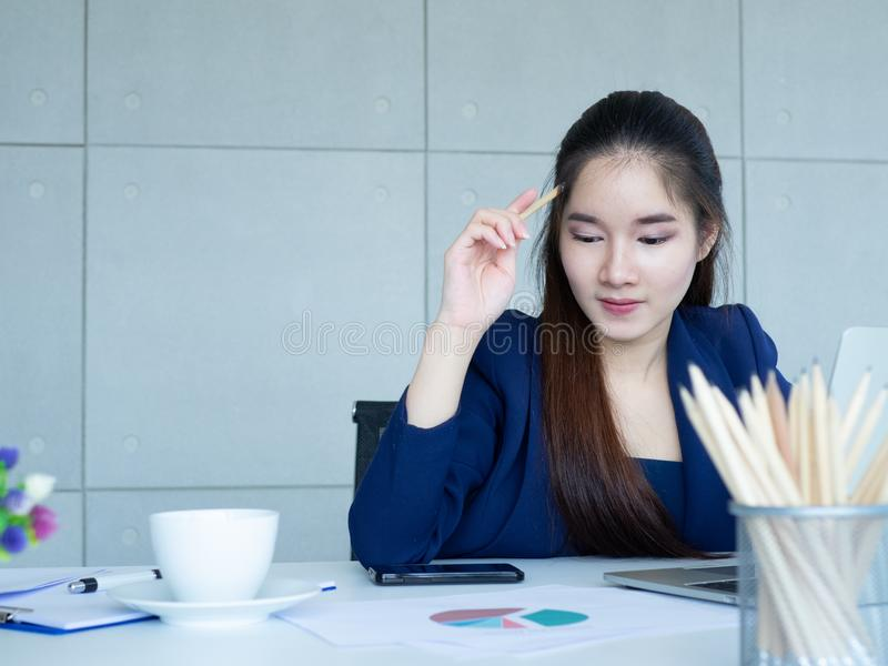 Woman think royalty free stock image