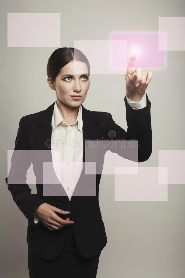 Young business successful person making use of innovative techno. Young business successful person making use innovative technologies stock images