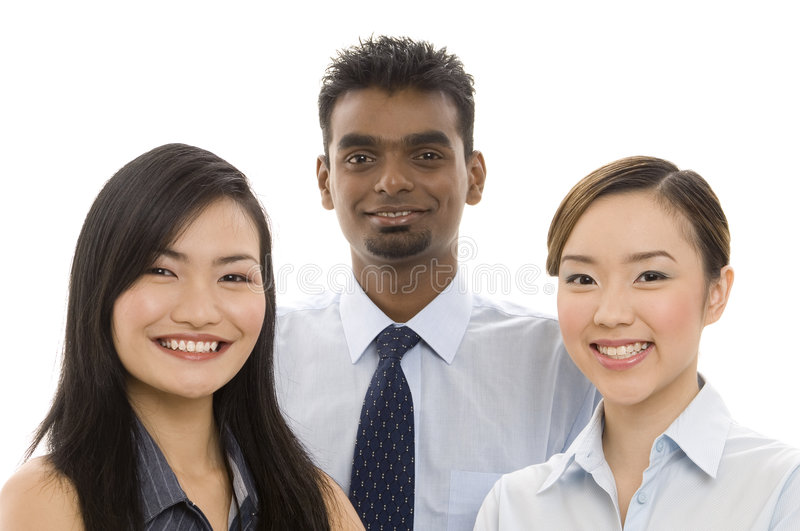 Young Business Team 2. A diverse group of smiling professionals