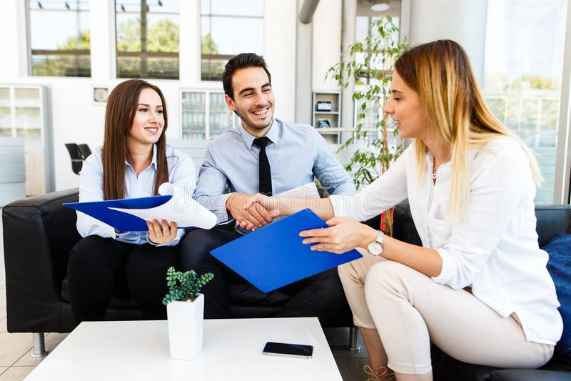 Young business team made great job royalty free stock photo