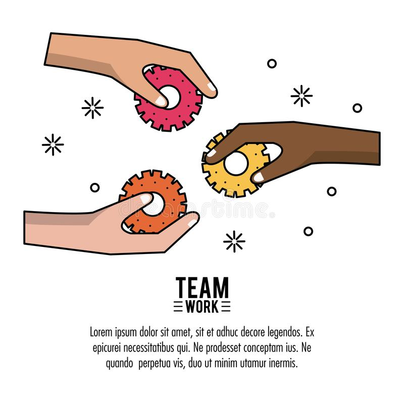 Young business teamwork stock illustration