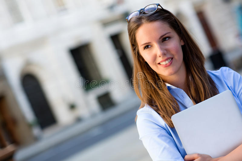 Download Young business woman stock photo. Image of girl, commerce - 26581160