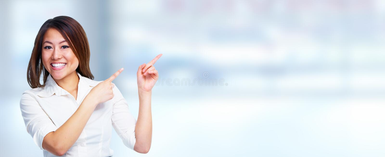 Young business woman. royalty free stock photography