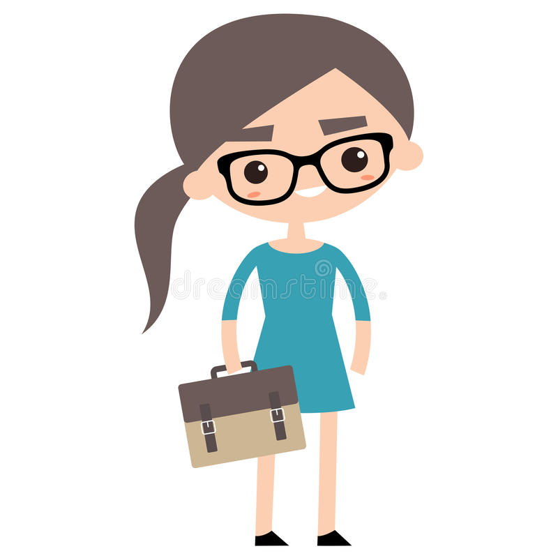 young business woman with briefcase stock vector illustration of rh dreamstime com businessman clipart free businesswoman clipart