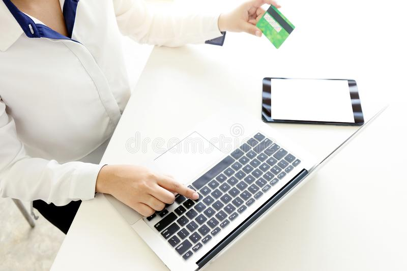 young business woman buyer seller stock images