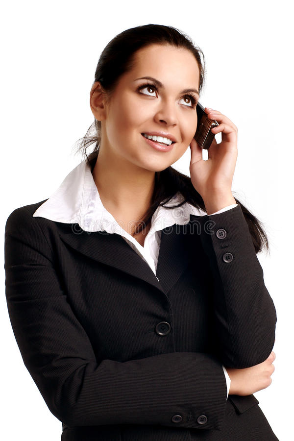 Free Young Business Woman Calling By Cellular Phone. Royalty Free Stock Photos - 14976078