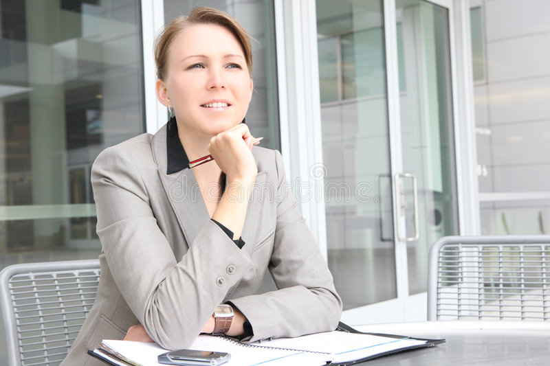 Young Business Woman at Company Office stock photos