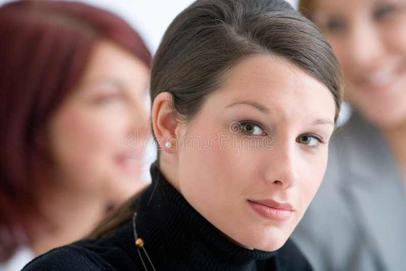 Young business woman and her team royalty free stock images