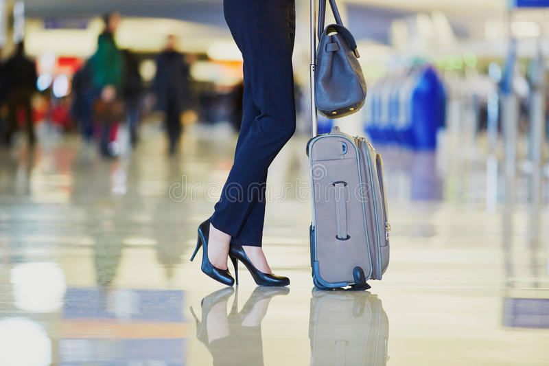 Download Young Business Woman In International Airport Stock Image - Image: 83723033