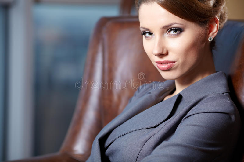 Download Young  Business Woman In Modern Office. Royalty Free Stock Photography - Image: 22414257
