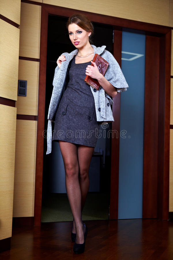 Young Business Woman In An Office Royalty Free Stock Image