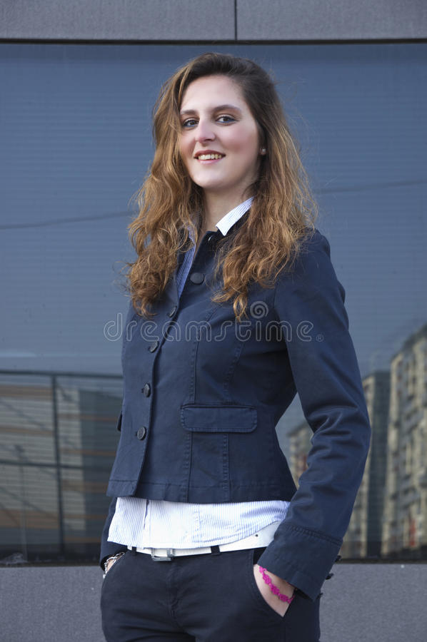 Download Young business woman stock image. Image of portrait, modern - 39500423