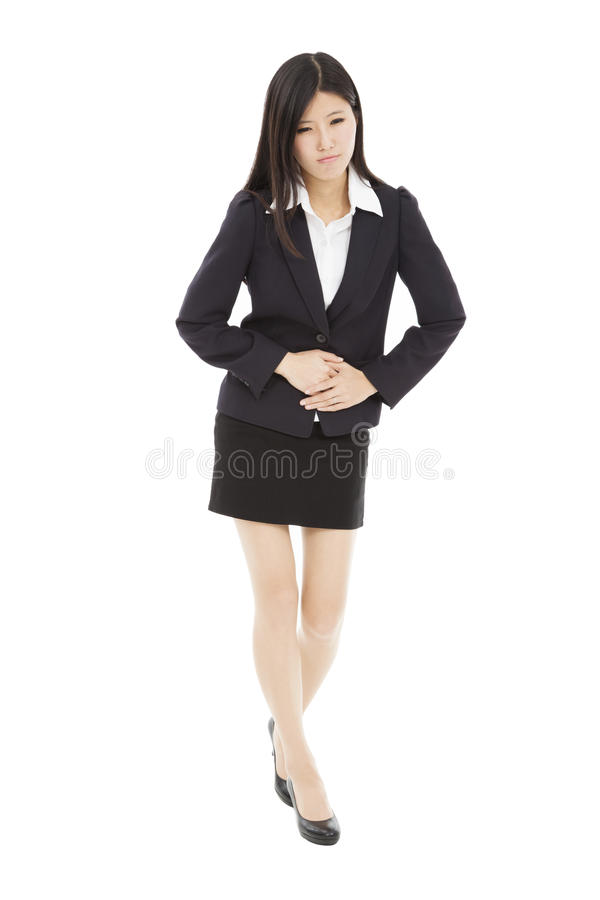 Download Business Woman With Stomach Ache Stock Photo - Image: 30054382