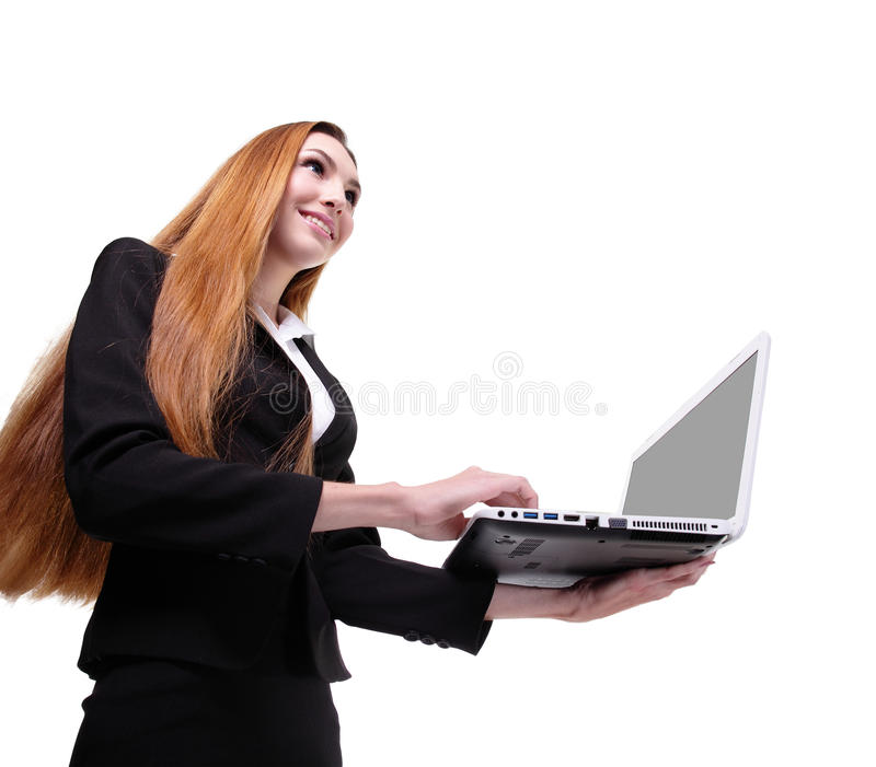 Download Young Business Woman Using Laptop Stock Photo - Image: 36970556