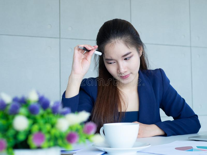 Woman think royalty free stock images