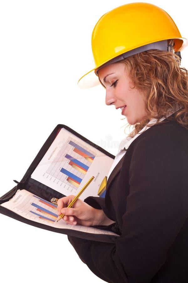 Young Business Woman Writing Stock Photos