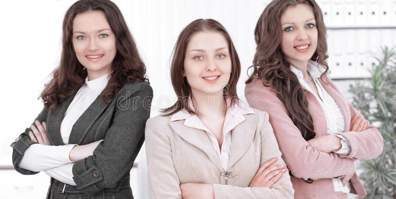 Young business women in modern office. activism the concept royalty free stock photos