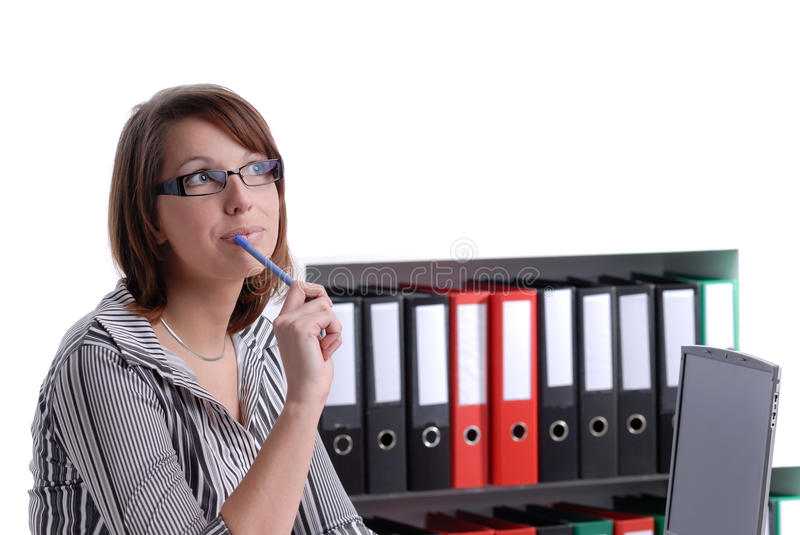 Download Young Business Wondering Woman Stock Image - Image: 13973401