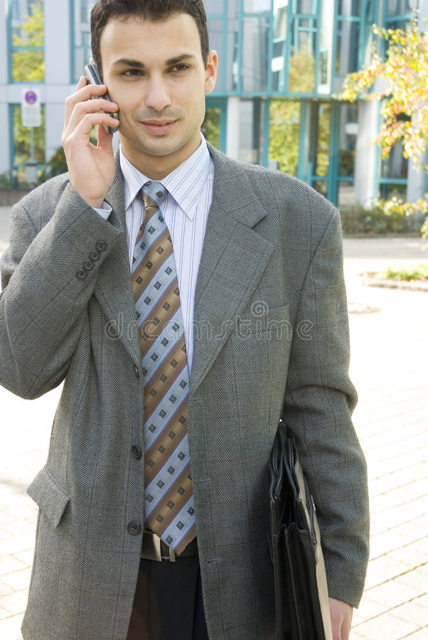 Download Young businessman stock image. Image of phone, clerk, happy - 1404991